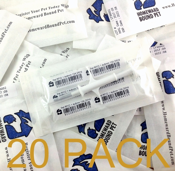 Picture of 20-Pack of Homeward Bound Pet Mini Microchips - only $5.50 each