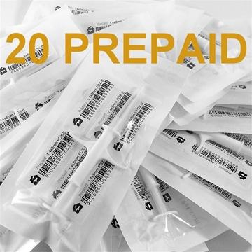 Imagen de 20 HBP Microchips con Registro Prepago